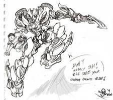 Car-Arcee Orig. Sketch by Th4rlDEAL