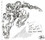 Car-Arcee Orig. Sketch
