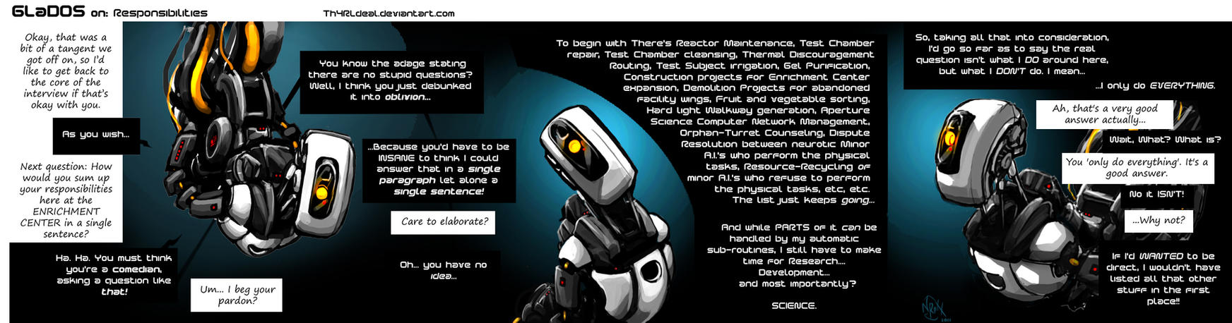 05 GLaDOS on: Responsibility by Th4rlDEAL