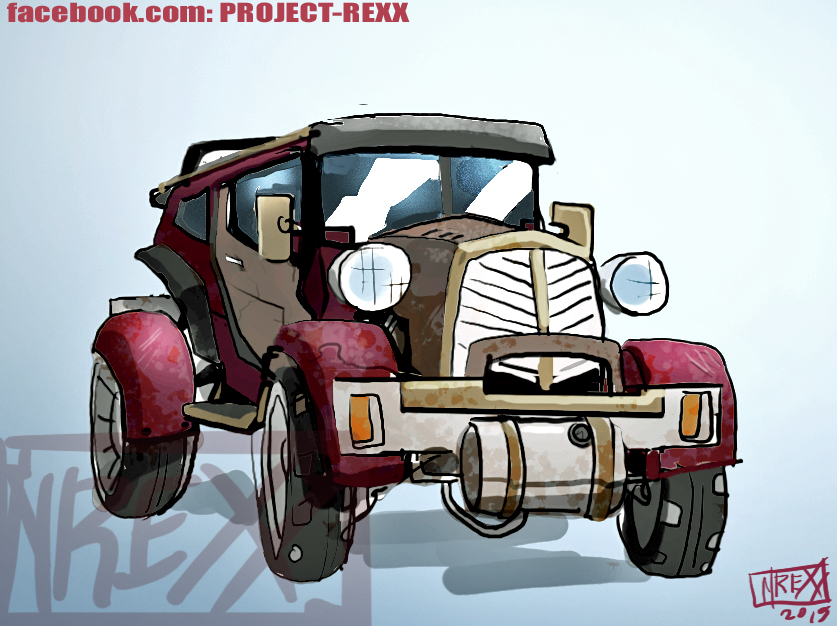 Old Timey Car Concept Art by Th4rlDEAL