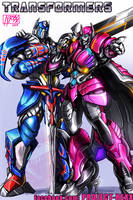 Transformers Commission: Optimus Prime and Rixia by Th4rlDEAL