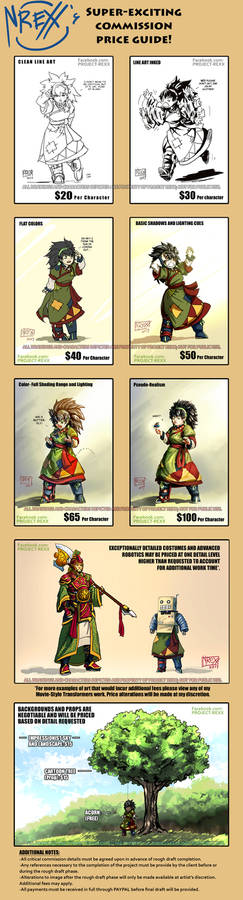 Super Exciting Commission Price Guide