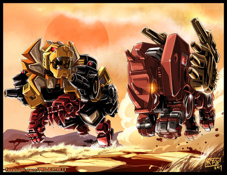 Transformers Commission: Ramhorn Vs Razorclaw