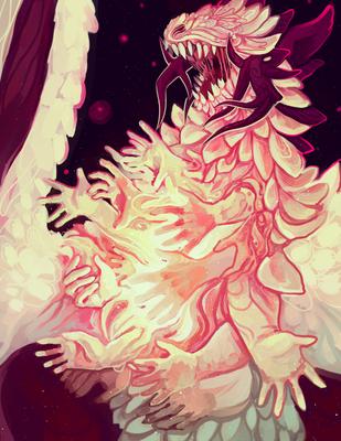 dragon print by Nekyua