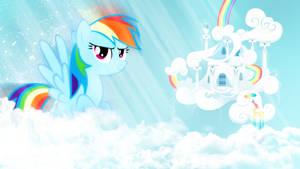 Rainbow dash . w /  Wallpaper 1920 x 1080 HD