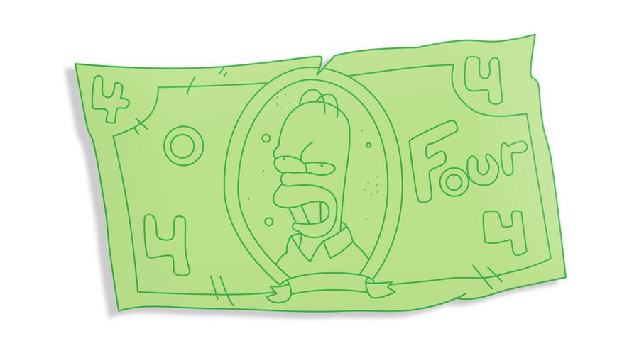 Homer's counterfeit money by WilliamFreeman