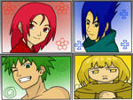 4 anime characters in naruto s style