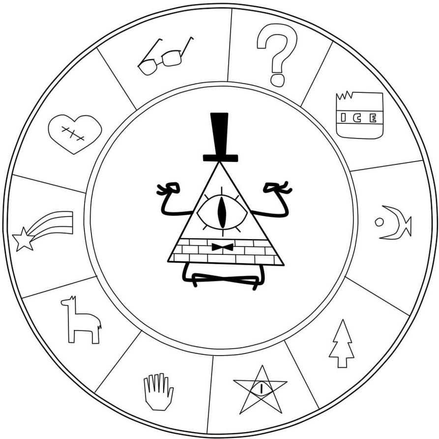 Bill cipher coloring pages ~ Bipper Gravity Falls Coloring Pages Coloring Pages