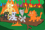 famous scene from Warrior Cats