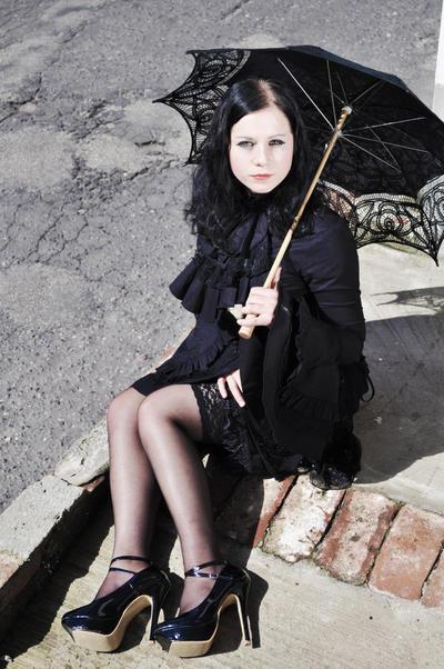 Lady in Black V by kickthebucket