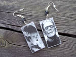 Frankenstein's Bride earrings