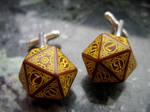 Steampunk dice cufflinks