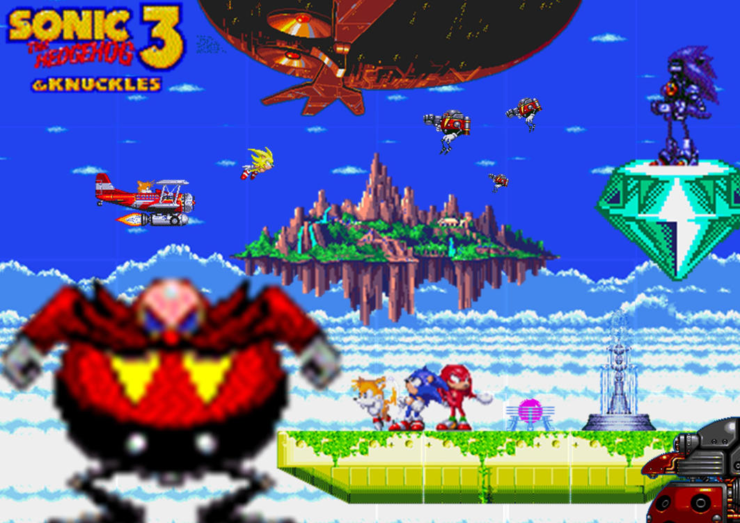 sonic 3 and knuckles wallpaper by rove1989 on deviantart. Black Bedroom Furniture Sets. Home Design Ideas