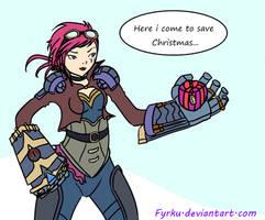 Christmas LoL Fanart : Vi by Fyrku