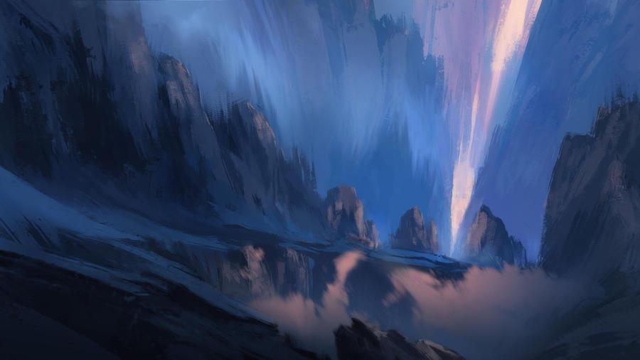 Mountain Light by waqasmallick