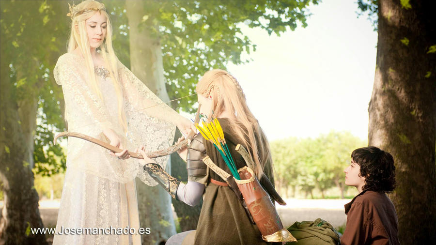 Lothlorien bow by Zihark-cosplay