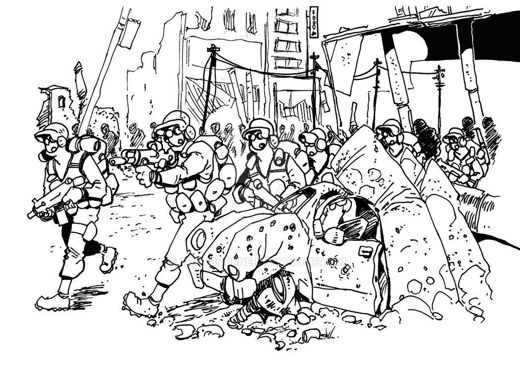 Bloc attack by TonyBourne