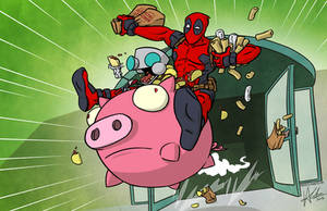 Deadpool and GIR in: The Heist by TheVirusAJG