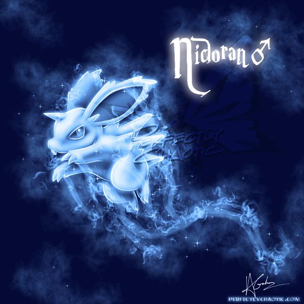 Nidoran (Male) Patronus by TheVirusAJG