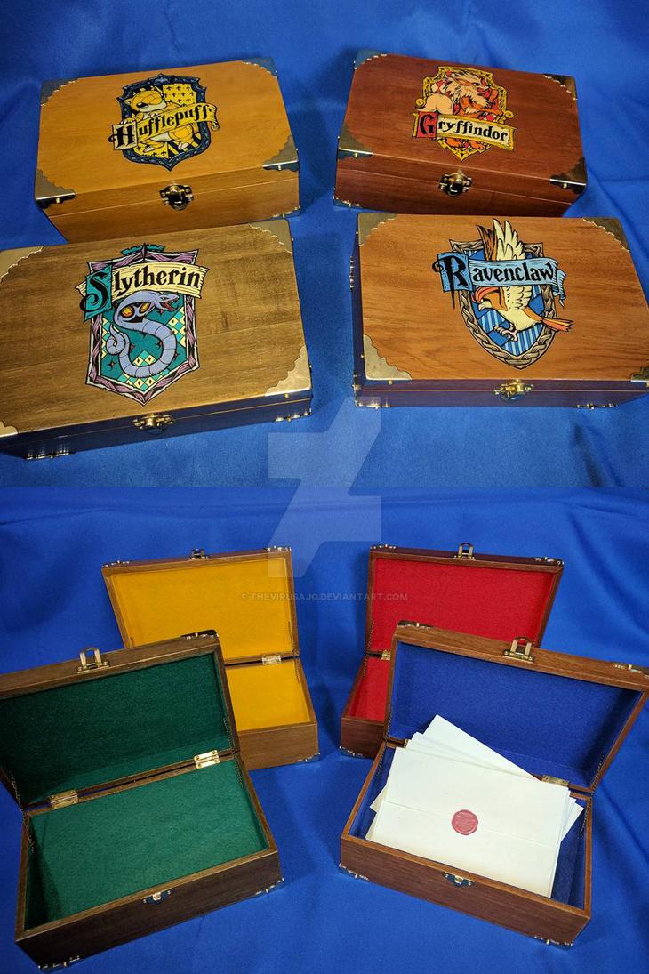 Pokemon/Hogwarts House Crest Boxes by TheVirusAJG
