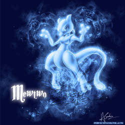 Mewtwo Patronus by TheVirusAJG