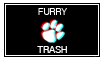 Furry Trash Stamp by DexDaCat