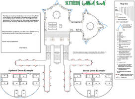 Slytherin Common Room Map Updated by Arien-Drakon