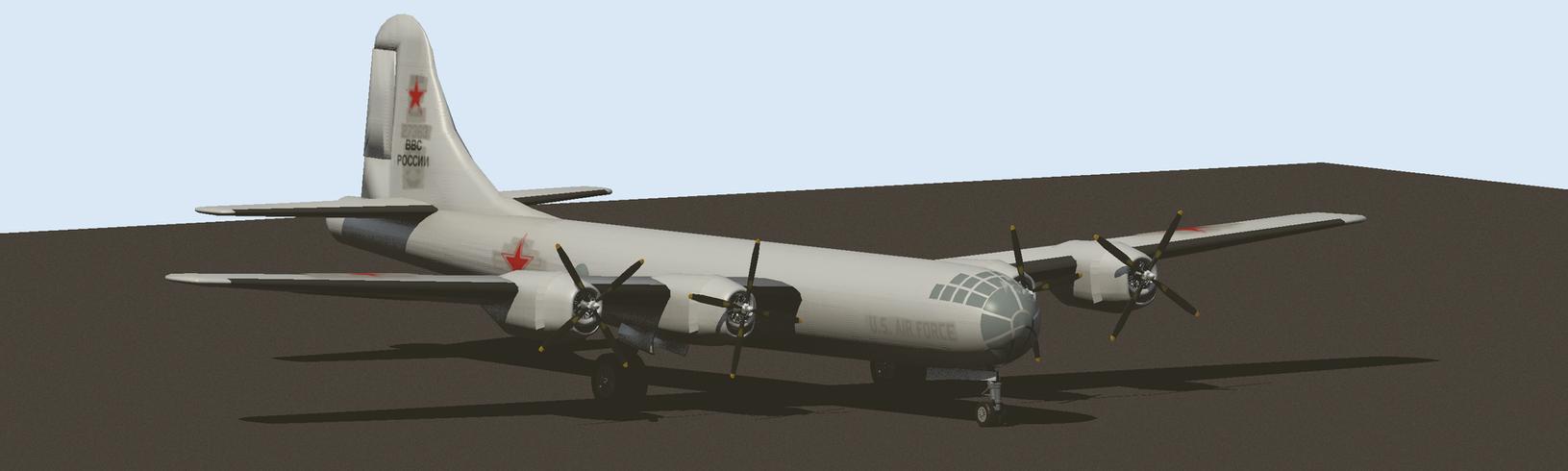 Captured B-29 Bomber by elrunethe2nd