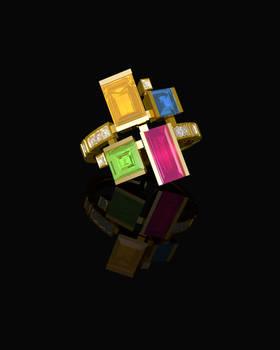Canturi Cubism Gold Ring