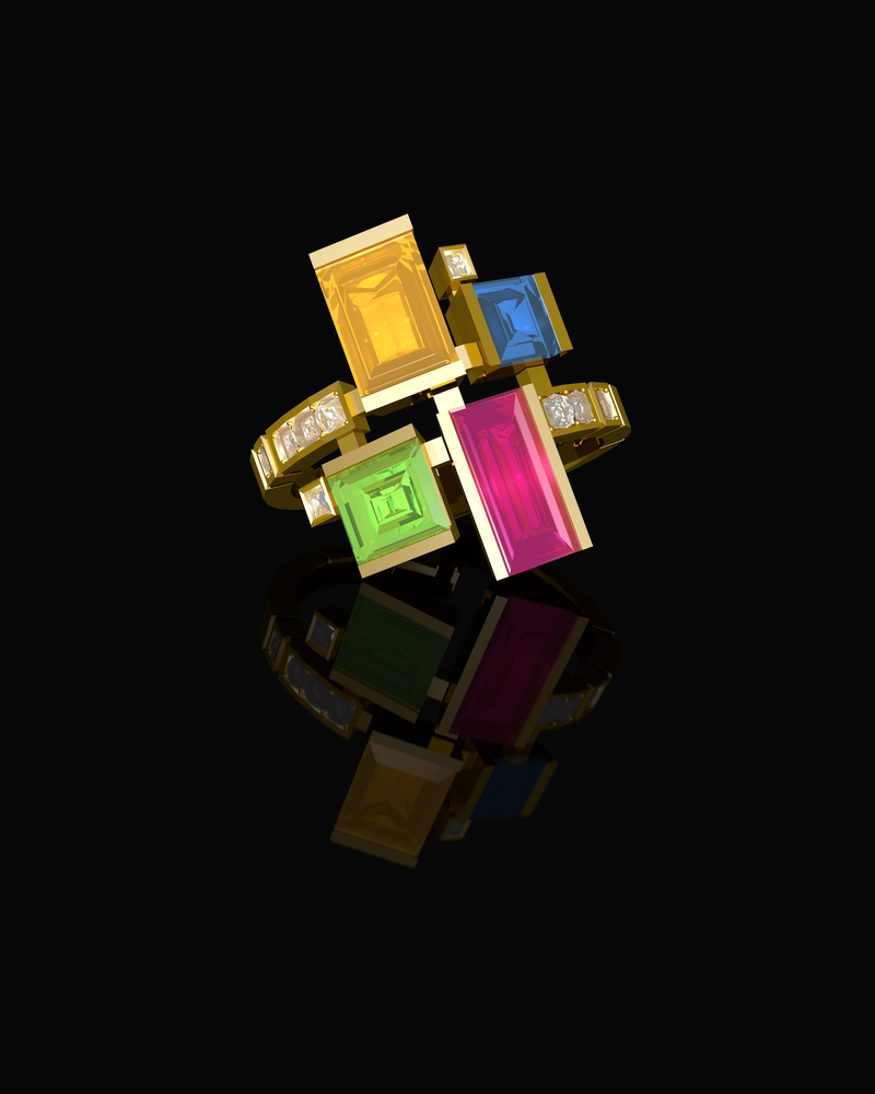 Canturi Cubism Gold Ring by elrunethe2nd