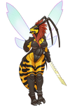 Wasp Girl by LuniArts