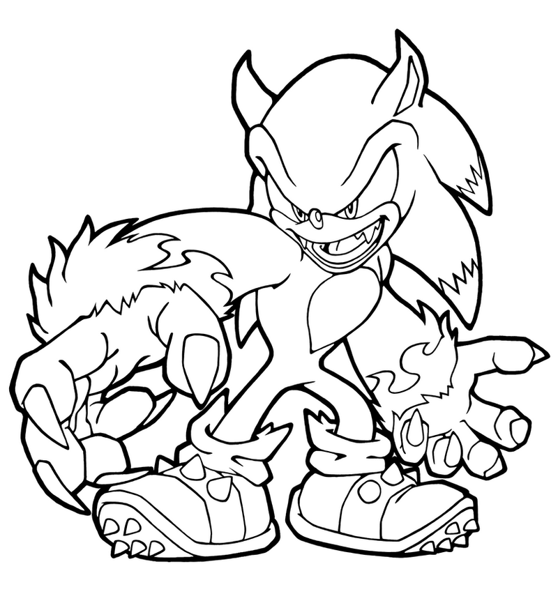 sonic team Colouring Pages