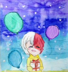 Happy birthday Todoroki! by Starya-Knight