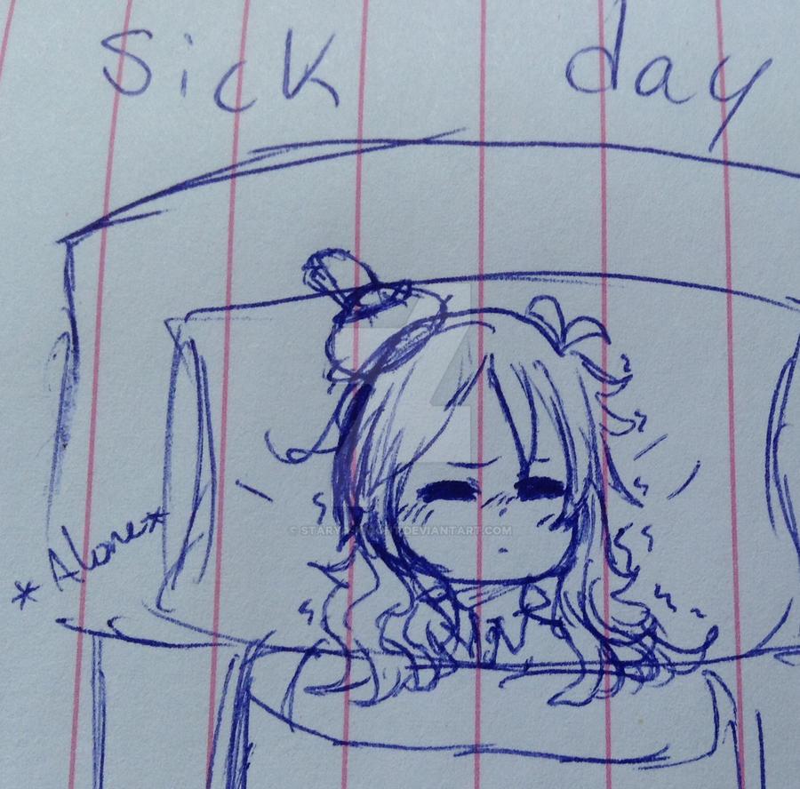 Sick day by Starya-Knight