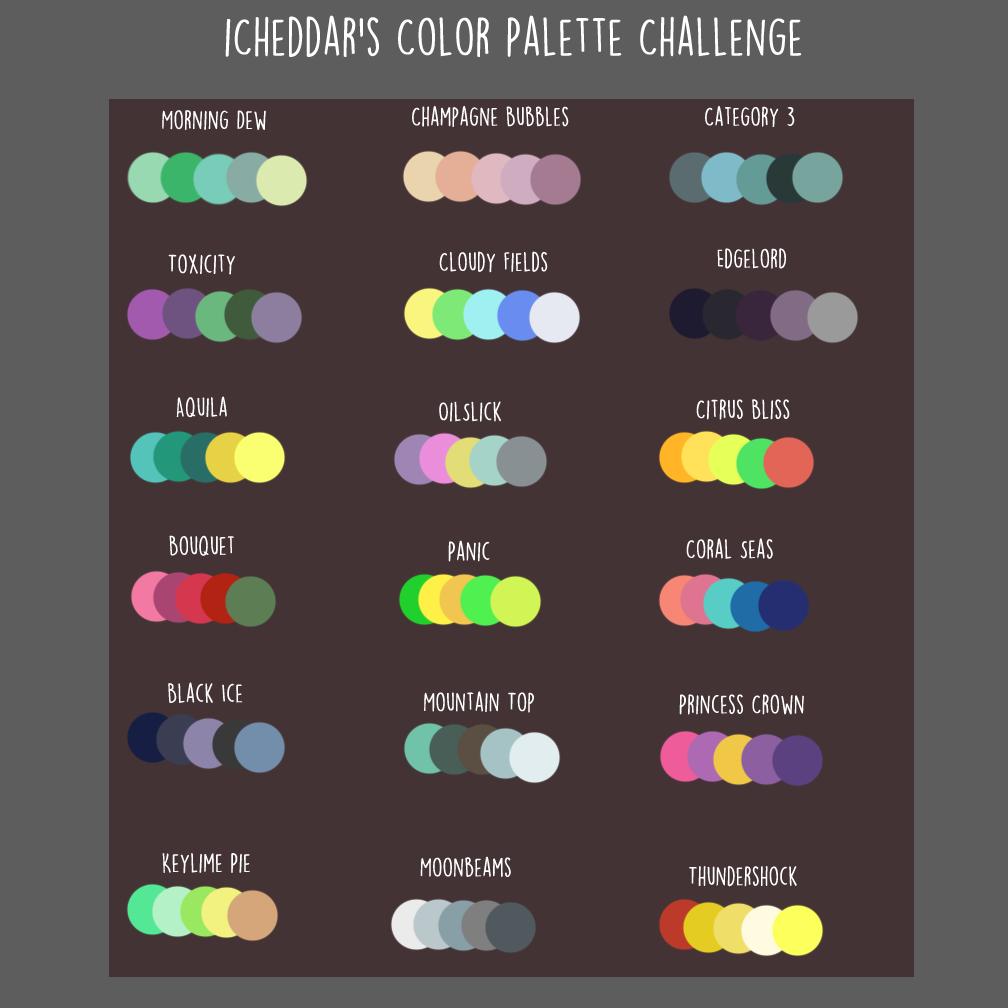 icheddar s color palette challenge by icheddar on deviantart