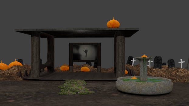 WIP Halloween Stage for MMD