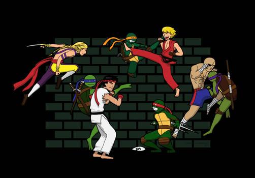 TMNT vs Street Fighter