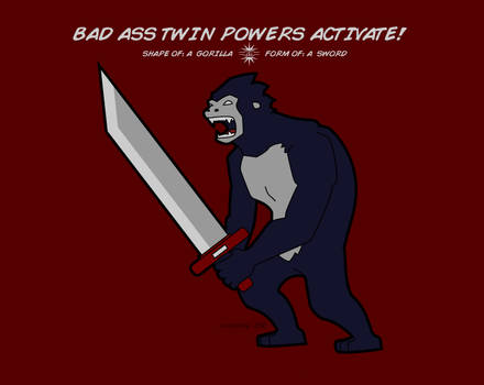 Shape of: a Gorilla. Form of: a Sword