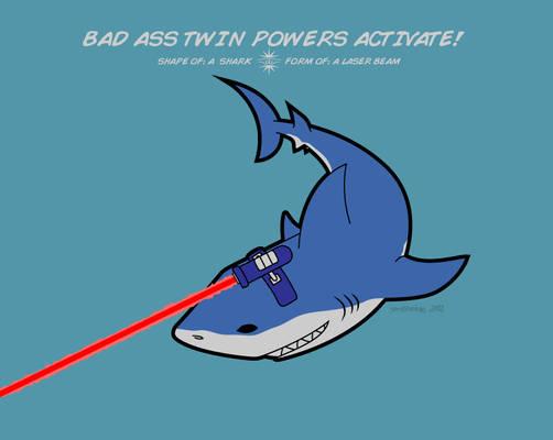 Shape of: a Shark. Form of: a Laser Beam