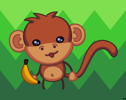 Monkey with Banana by LordPrevious