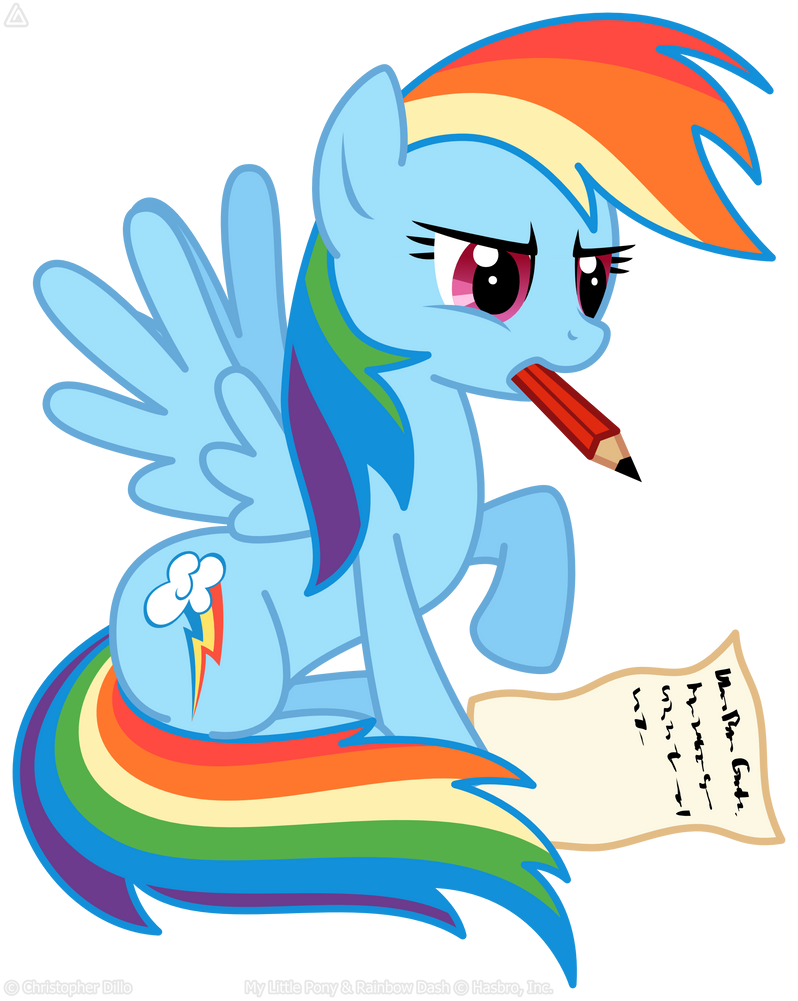Rainbow Dash likes writing letters by LordPrevious