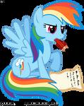 Rainbow Dash likes writing letters