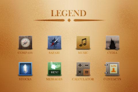 Legend iOS Theme Idea