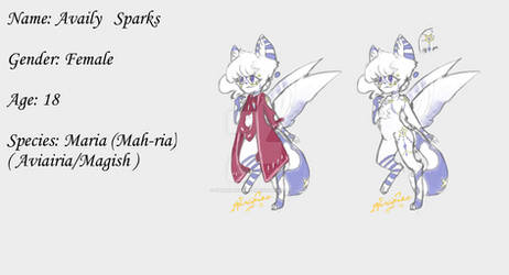 Availy Sparks (redesign of my old OC Sparkle)