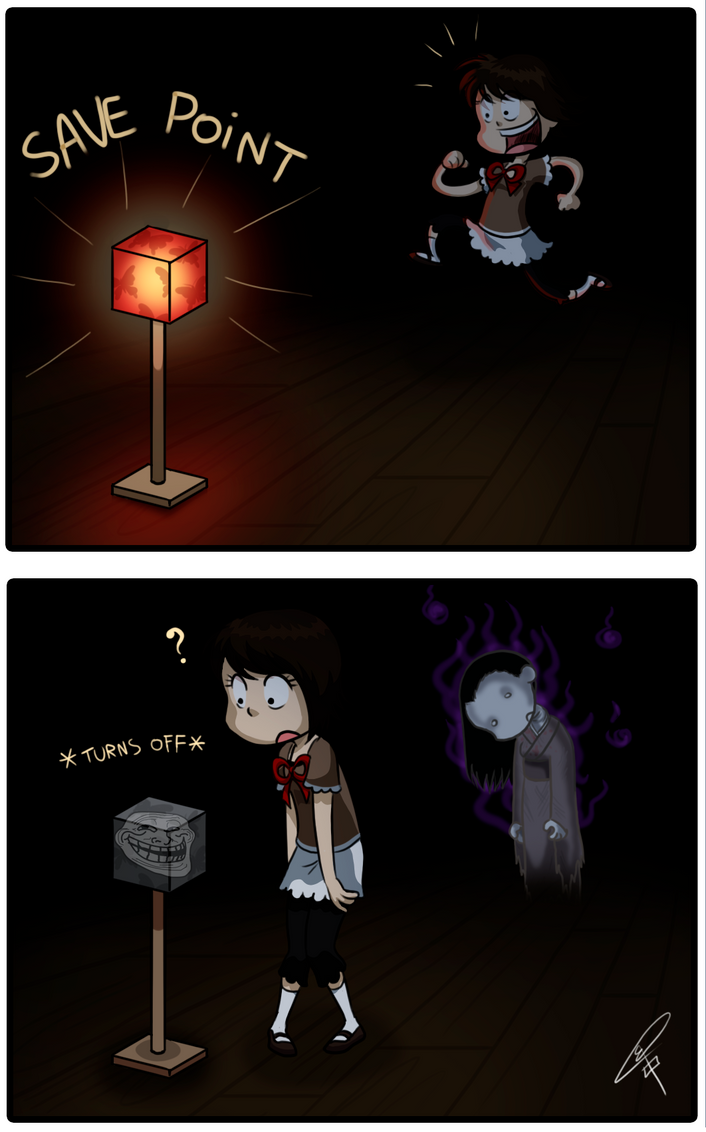 Save Point - Fatal Frame II by ClaraKerber