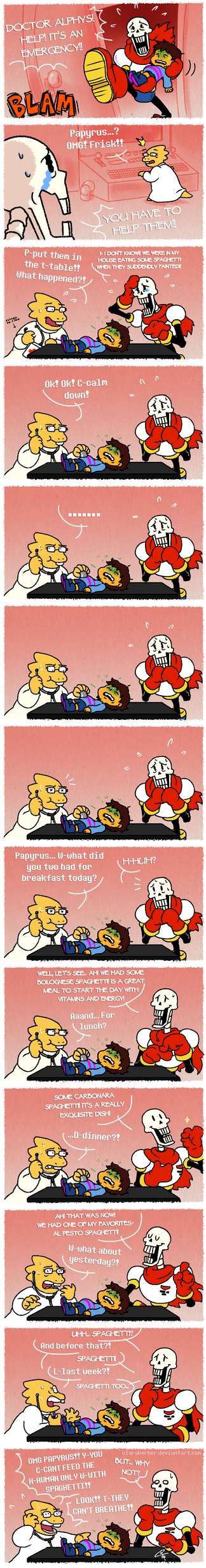 [Comic] Living with Papyrus in a nutshell by ClaraKerber