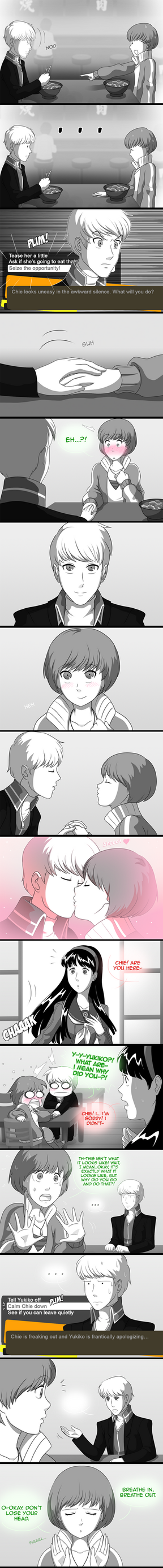 Comm- Persona 4: Signs of Love (Chie's story pt.2) by ClaraKerber