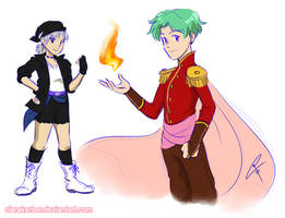 Genderbend Locke and Terra