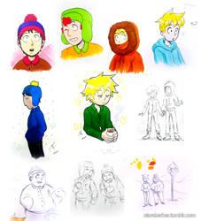 South Park doodles by ClaraKerber