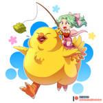 Patreon Reward - Terra and Fat Chocobo by ClaraKerber
